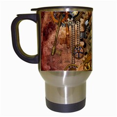 Steampunk Travel Mug (White)