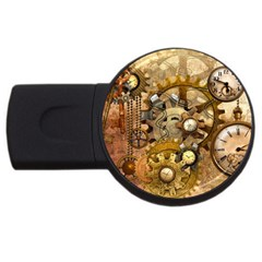 Steampunk 4GB USB Flash Drive (Round)