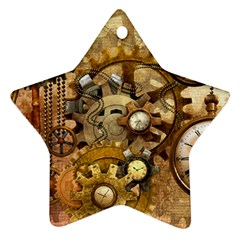 Steampunk Star Ornament (Two Sides)