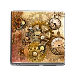 Steampunk Memory Card Reader with Storage (Square)