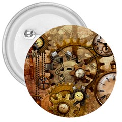 Steampunk 3  Button