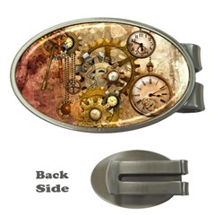 Steampunk Money Clip (Oval)