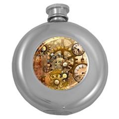 Steampunk Hip Flask (Round)