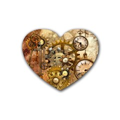 Steampunk Drink Coasters 4 Pack (Heart)