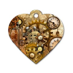 Steampunk Dog Tag Heart (One Sided)