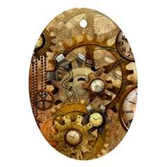 Steampunk Oval Ornament
