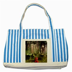 Last Song Striped Blue Tote Bag