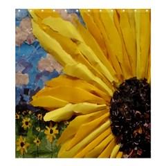 3d Sunflower Design Shower Curtain 66  X 72  (large)
