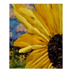 3D Sunflower Design Shower Curtain 60  x 72  (Medium)
