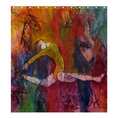 Colorful Dancer-Gymnast  Shower Curtain 66  x 72  (Large)