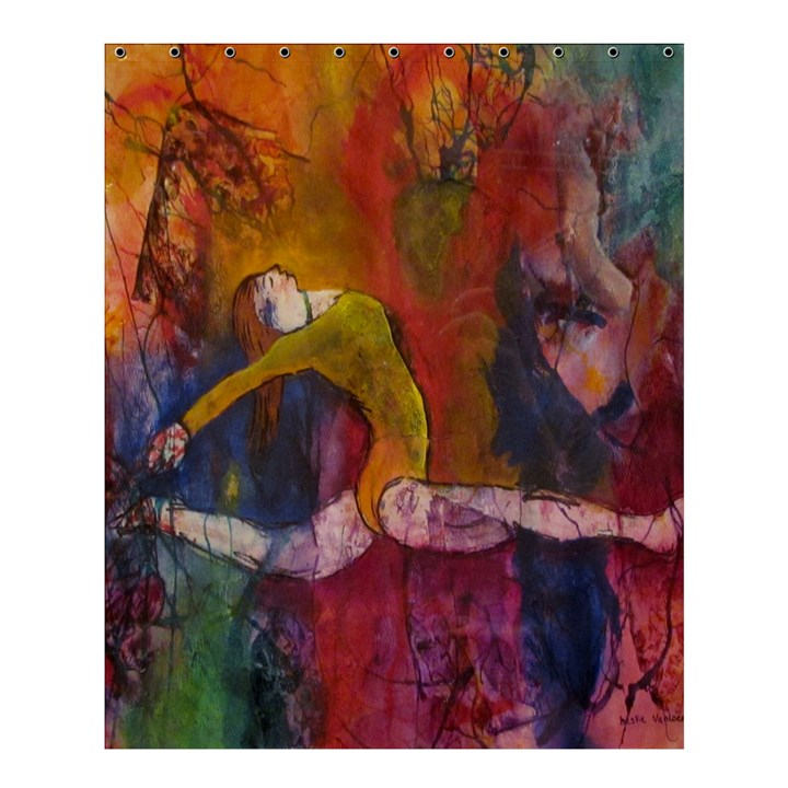 Colorful Dancer-Gymnast  Shower Curtain 60  x 72  (Medium)