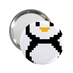 Pixel Linux Tux Penguin Handbag Mirror (2.25 )
