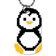 Pixel Linux Tux Penguin Dog Tag (one Sided)
