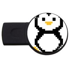 Pixel Linux Tux Penguin 1GB USB Flash Drive (Round)