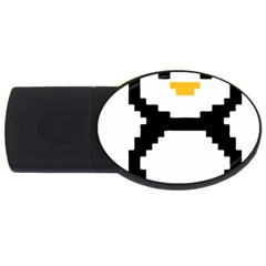 Pixel Linux Tux Penguin 4GB USB Flash Drive (Oval)