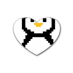 Pixel Linux Tux Penguin Drink Coasters 4 Pack (Heart)