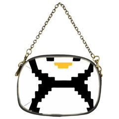 Pixel Linux Tux Penguin Chain Purse (One Side)
