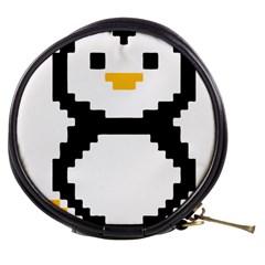 Pixel Linux Tux Penguin Mini Makeup Case