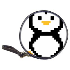 Pixel Linux Tux Penguin Cd Wallet
