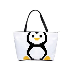 Pixel Linux Tux Penguin Large Shoulder Bag