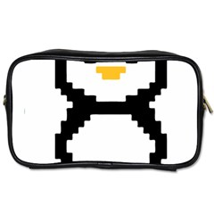 Pixel Linux Tux Penguin Travel Toiletry Bag (One Side)