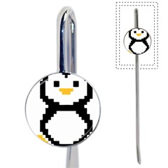Pixel Linux Tux Penguin Bookmark
