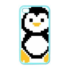 Pixel Linux Tux Penguin Apple Iphone 4 Case (color)