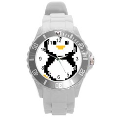 Pixel Linux Tux Penguin Plastic Sport Watch (large)