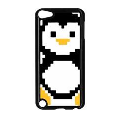 Pixel Linux Tux Penguin Apple iPod Touch 5 Case (Black)