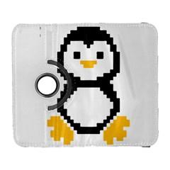Pixel Linux Tux Penguin Samsung Galaxy S  Iii Flip 360 Case