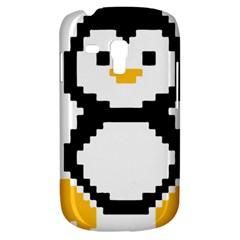 Pixel Linux Tux Penguin Samsung Galaxy S3 MINI I8190 Hardshell Case