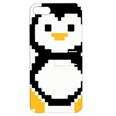Pixel Linux Tux Penguin Apple iPhone 5 Hardshell Case with Stand