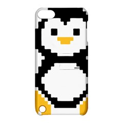 Pixel Linux Tux Penguin Apple iPod Touch 5 Hardshell Case with Stand