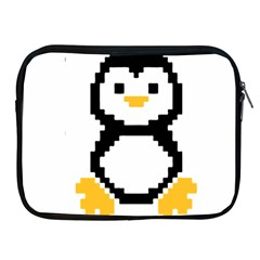 Pixel Linux Tux Penguin Apple Ipad Zippered Sleeve