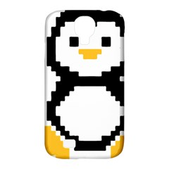 Pixel Linux Tux Penguin Samsung Galaxy S4 Classic Hardshell Case (PC+Silicone)