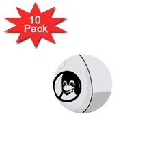 LIUX TUX EGG BRAND 1  Mini Button (10 pack)