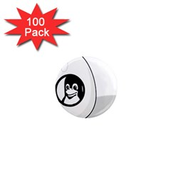 LIUX TUX EGG BRAND 1  Mini Button Magnet (100 pack)