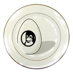 LIUX TUX EGG BRAND Porcelain Display Plate