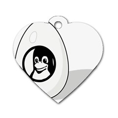LIUX TUX EGG BRAND Dog Tag Heart (Two Sided)