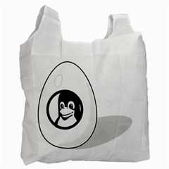 Liux Tux Egg Brand Recycle Bag (two Sides)