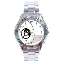 Liux Tux Egg Brand Stainless Steel Watch