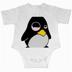 Lazy Linux Tux Penguin Infant Bodysuit
