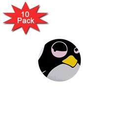 Lazy Linux Tux Penguin 1  Mini Button (10 pack)