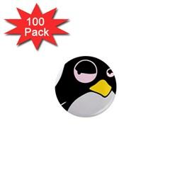 Lazy Linux Tux Penguin 1  Mini Button Magnet (100 pack)