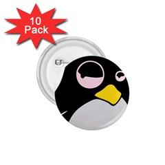 Lazy Linux Tux Penguin 1.75  Button (10 pack)