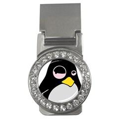 Lazy Linux Tux Penguin Money Clip (CZ)
