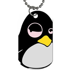 Lazy Linux Tux Penguin Dog Tag (Two-sided)