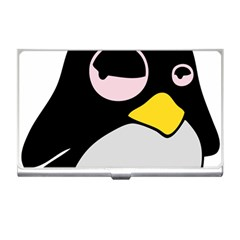 Lazy Linux Tux Penguin Business Card Holder