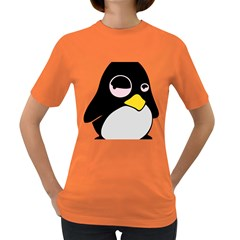 Lazy Linux Tux Penguin Womens' T-shirt (Colored)