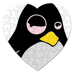 Lazy Linux Tux Penguin Jigsaw Puzzle (Heart)